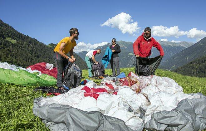 Paragleiten Ausflug Zillertal Tux Austria